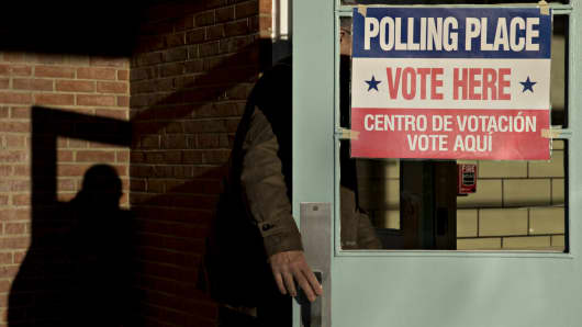 Voting poll entrance