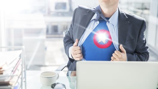 Superhero at work