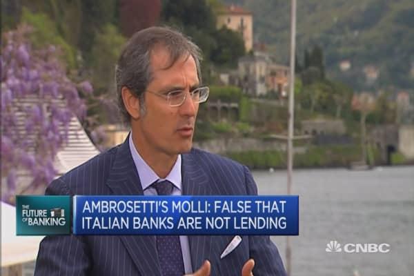 It's false that Italy's banks aren't lending: Molli