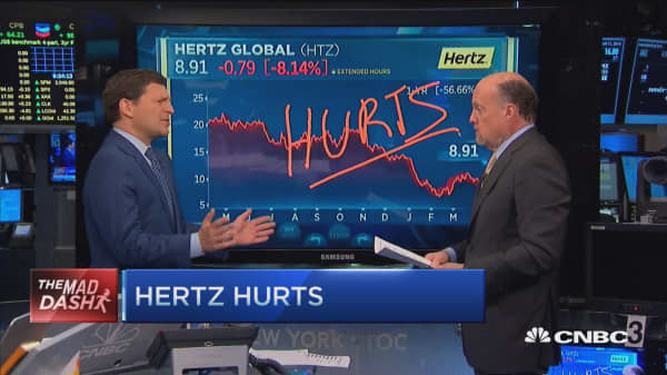 Cramer's Mad Dash: Hertz hurts