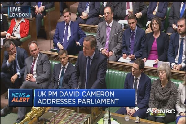 Cameron: Release of tax returns should not extend to all MPs