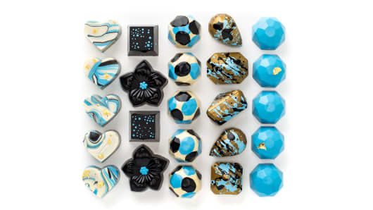 Bringing haute couture designs to sweets: Maggie Louise Confections' Spring Beauty Chocolates collection.