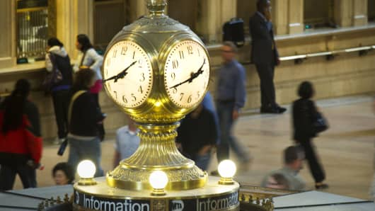 Time clock Grand Central Terminal