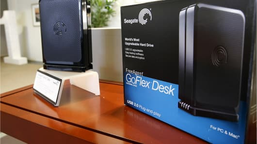 A Seagate Technology Plc GoFlex Desk hard drive.