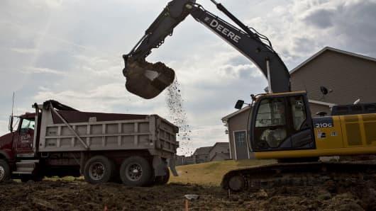 Deere excavator dirt