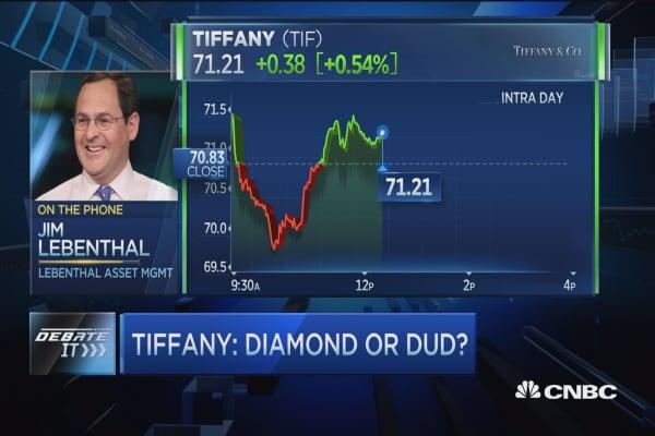 Trader thinks Tiffany 'a diamond'