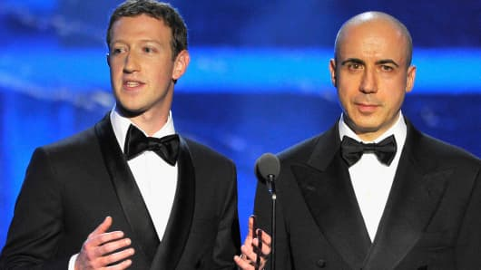 Mark Zuckerberg and Yuri Milner.