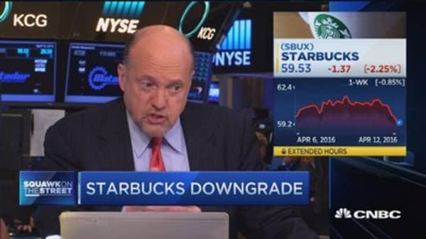 Cramer: I don't mind the Starbucks downgrade