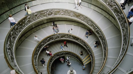 Spiral Staircase downward economy