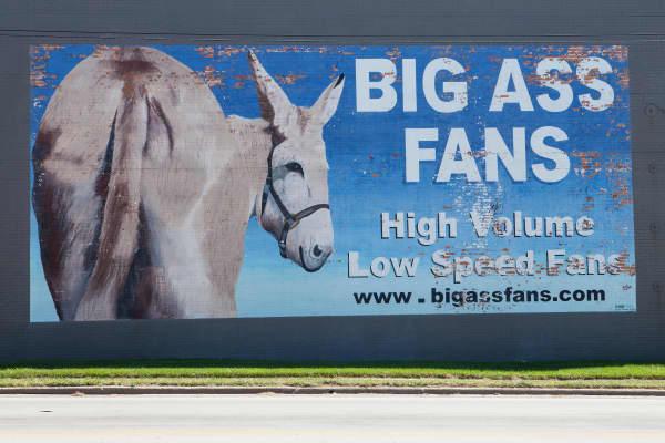 A BigAssFans mural in Lexington, Kentucky.