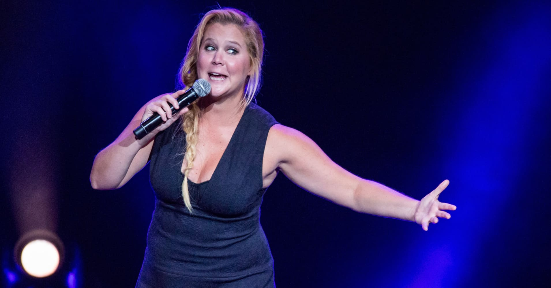 Comedian Amy Schumer performs during the Oddball Comedy And Curiosity Festival at DTE Energy Music Theater on August 30, 2015 in Clarkston, Michigan.