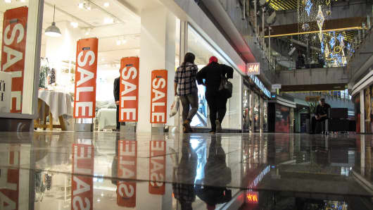 Sale in mall