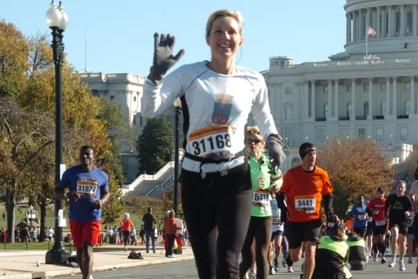 Cristina Mariani-May, Banfi Vintners co-CEO, at the Marine Corp Marathon in DC.