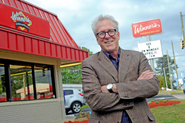 John Buttolph, a 63-year-old lawyer with no food or restaurant experience stepped away from a 35+ year career as an attorney to focus on resurrecting the Mrs. Winner's a brand in the Southeast.