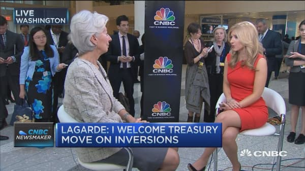 Lagarde: I welcome Treasury move on inversions