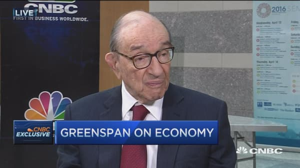Greenspan: Monetary policy has done everything it can