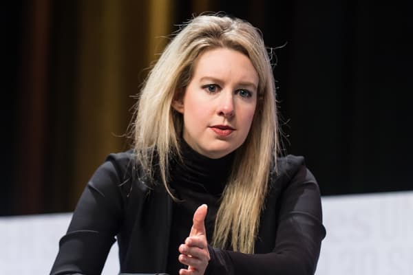 Founder & CEO of Theranos Elizabeth Holmes.