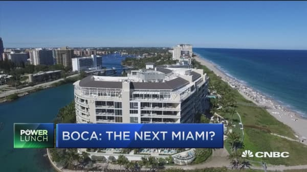 Behind Florida real estate