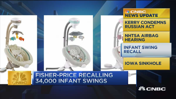 CNBC update: Fisher-Price recall