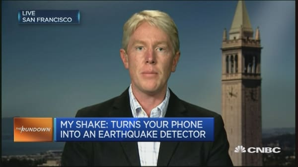 My Shake App - earthquake detector for your smartphone