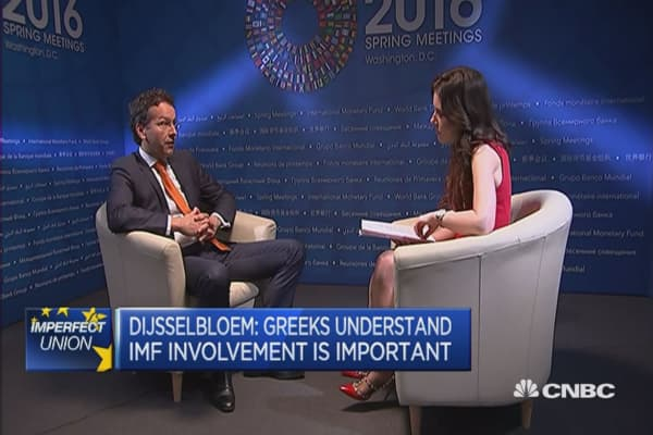 Jeroen Dijsselbloem on the Greek debt burden