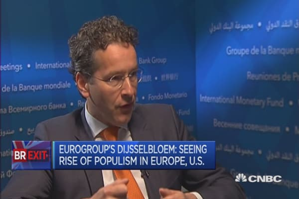 We need stability in Europe: Eurogroup president