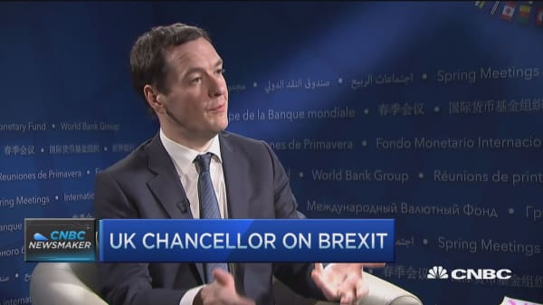 UK chancellor George Osborne on Brexit