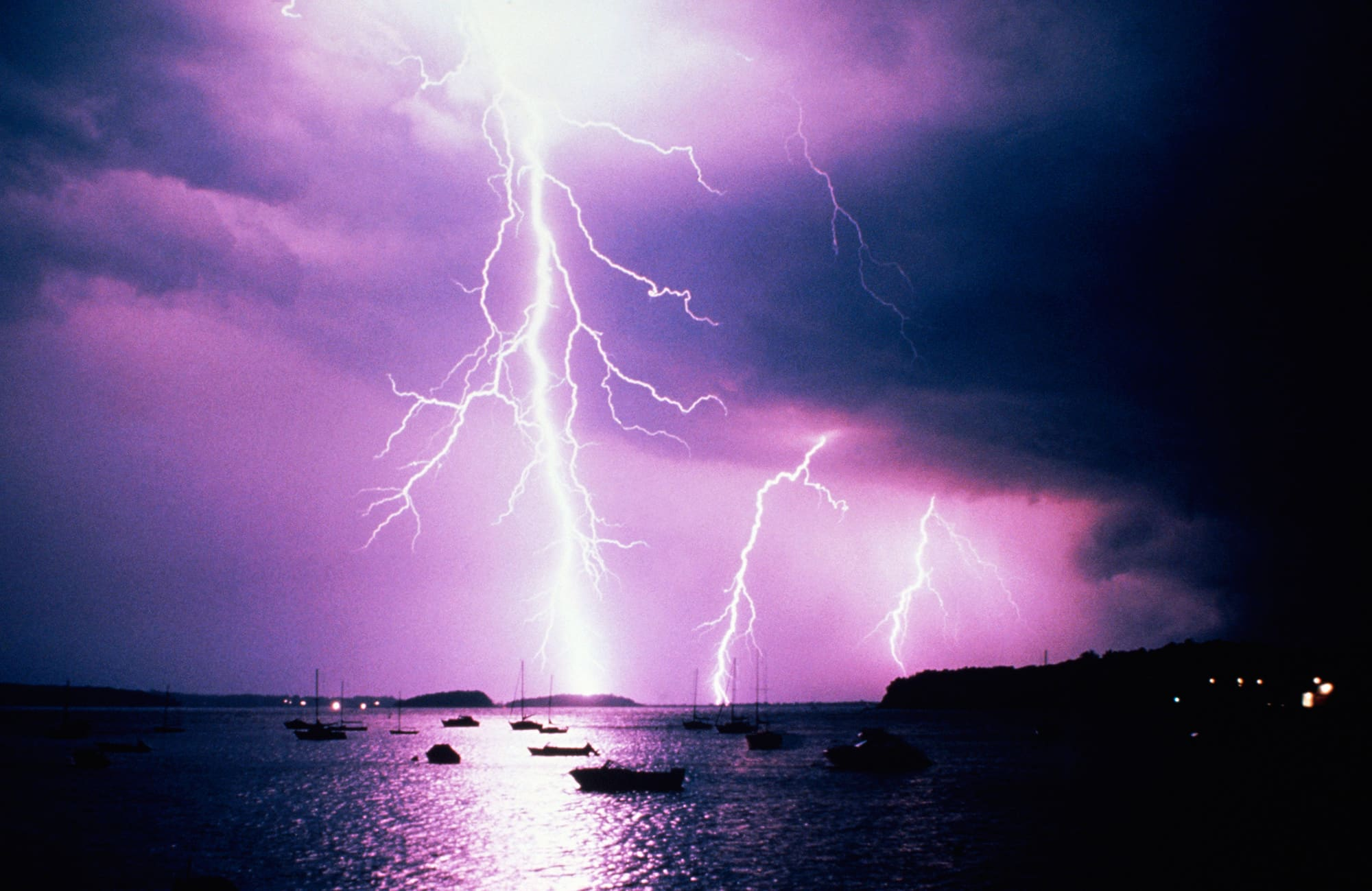 & How a man was struck by lightning indoors