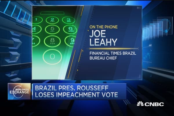 Brazil's Rousseff loses impeachment vote