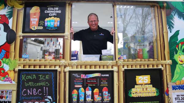 Tony Lamb and Kona Ice, a shaved ice store on wheels.