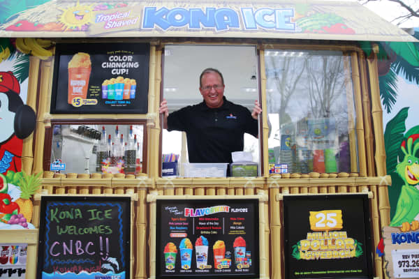 Tony Lamb and Kona Ice, a shaved ice store on wheels.