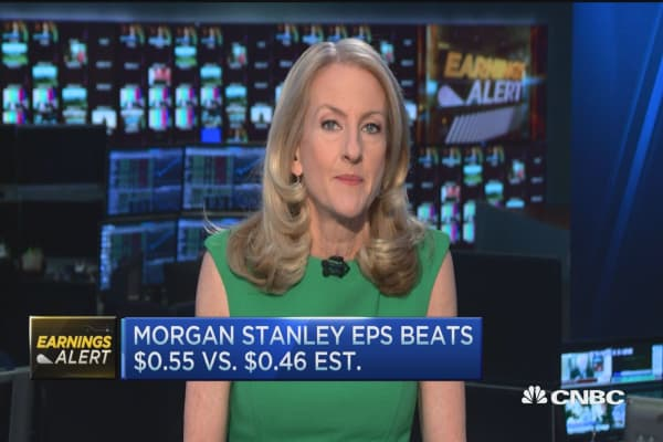 Morgan Stanley beats estimates as profits decline