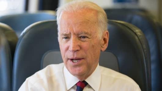 Joe Biden speaks with CNBC's John Harwood.