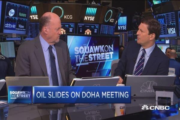 Cramer: This oil fall won't matter in near-term future