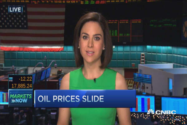 Oil slides on no deal in Doha