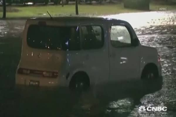 Houston area hit with flash floods