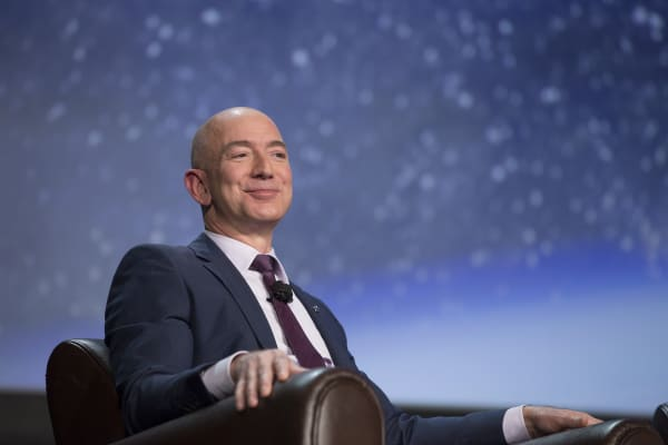 Jeff Bezos, chief executive officer of Amazon.com