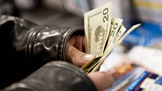 Handling money