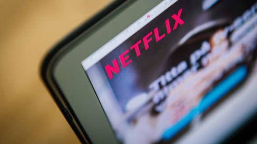 Netflix on a laptop screen