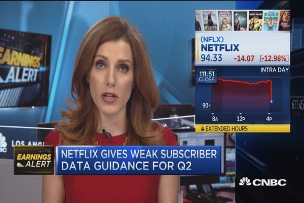 Netflix earnings beat, weak subscriber data