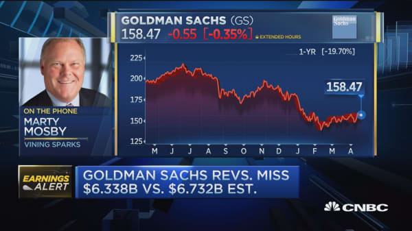 Goldman 'in eye of the storm' posts revenue miss