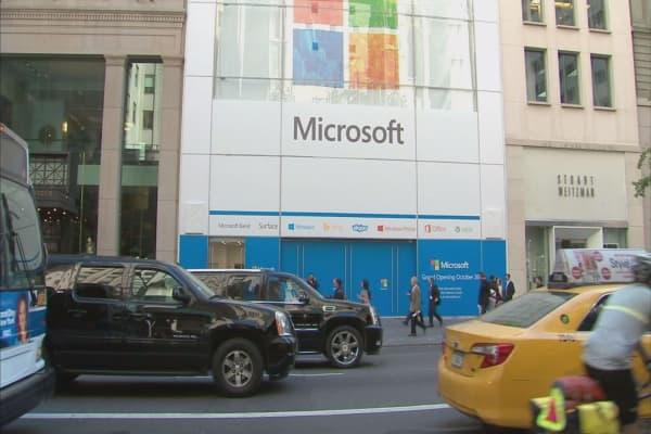 Microsoft earnings on tap
