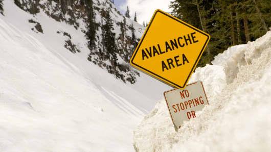Market plummeting, avalanche