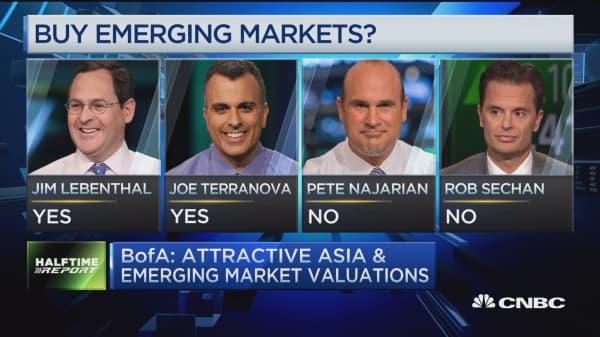 BofA: Attractive emerging market valuations