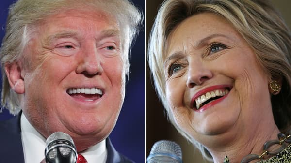 Presidential candidates, Donald Trump and Hillary Clinton
