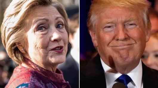 Hillary Clinton and Donald Trump.