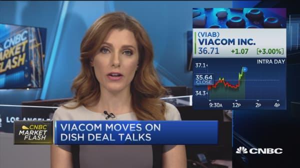Viacom up nearly 3%