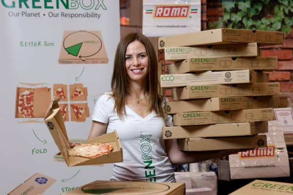 Feeling boxed in, Jennifer Wright-Laracy left finance to co-found GreenBox, a company that makes convertible pizza boxes.