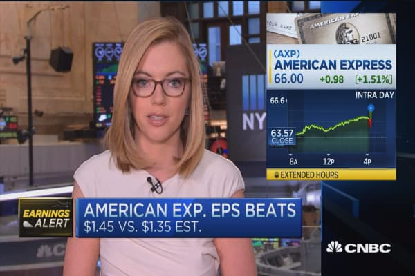 American Express top and bottom line beat