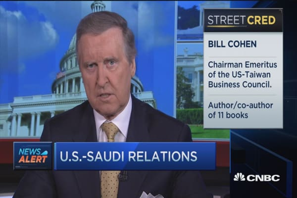 Bill Cohen: Concerns with US & Saudi Arabia relations